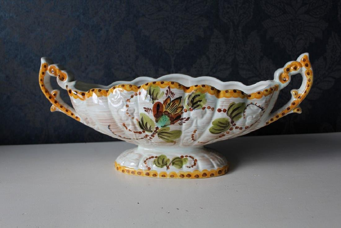 Antique Belgian ceramic centerpiece