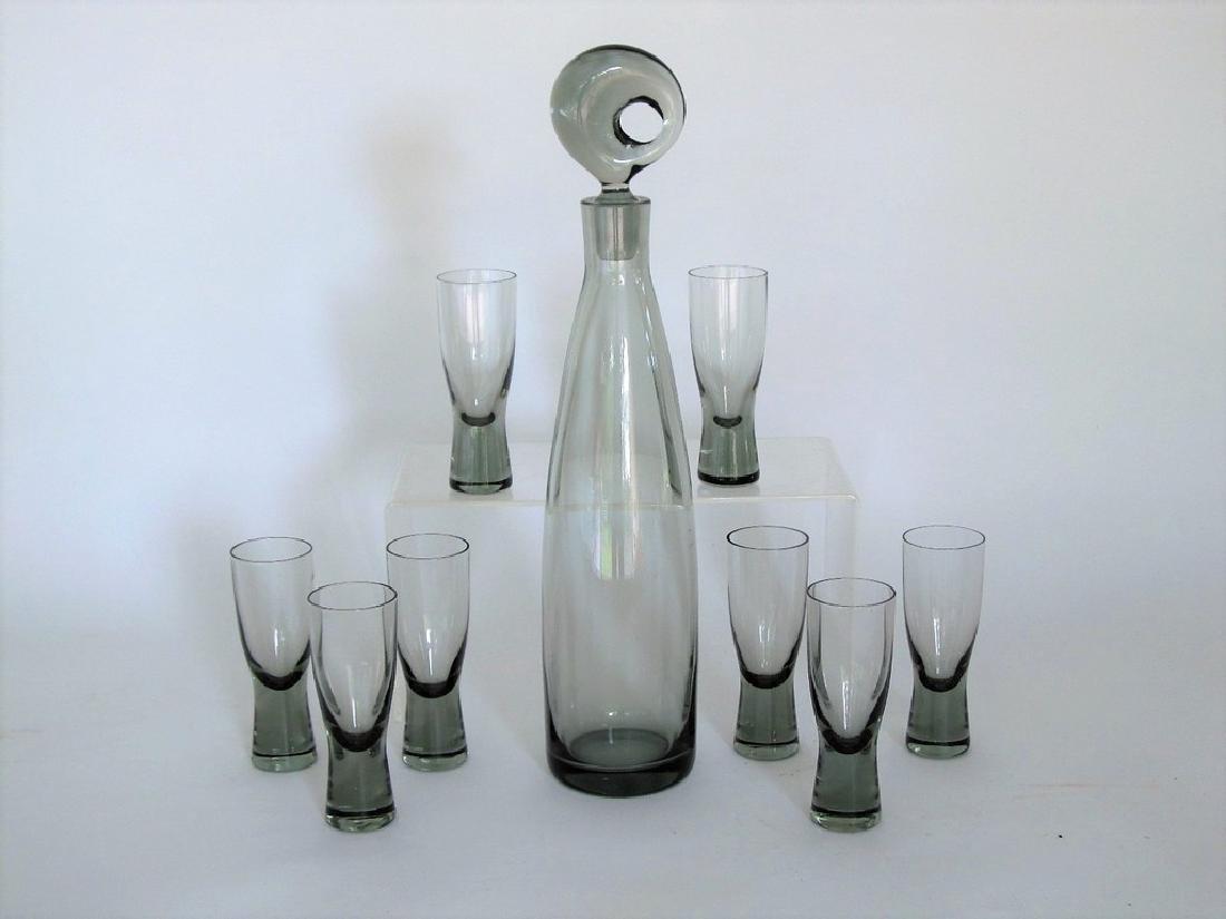 Holmegaard Aristokrat Glass Decanter Set w/ 8 Cordials