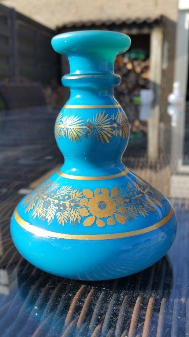 Antique Opaline Glass Perfume Bottle / Scent Bottle