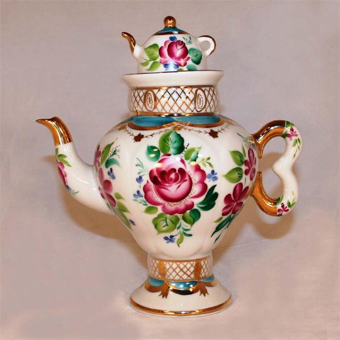 Lomonosov Porcelain Samovar with Teapot