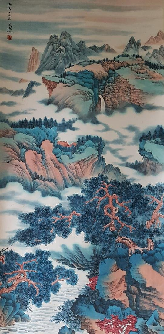 A Chinese Scroll Painting on paper WU HUFAN