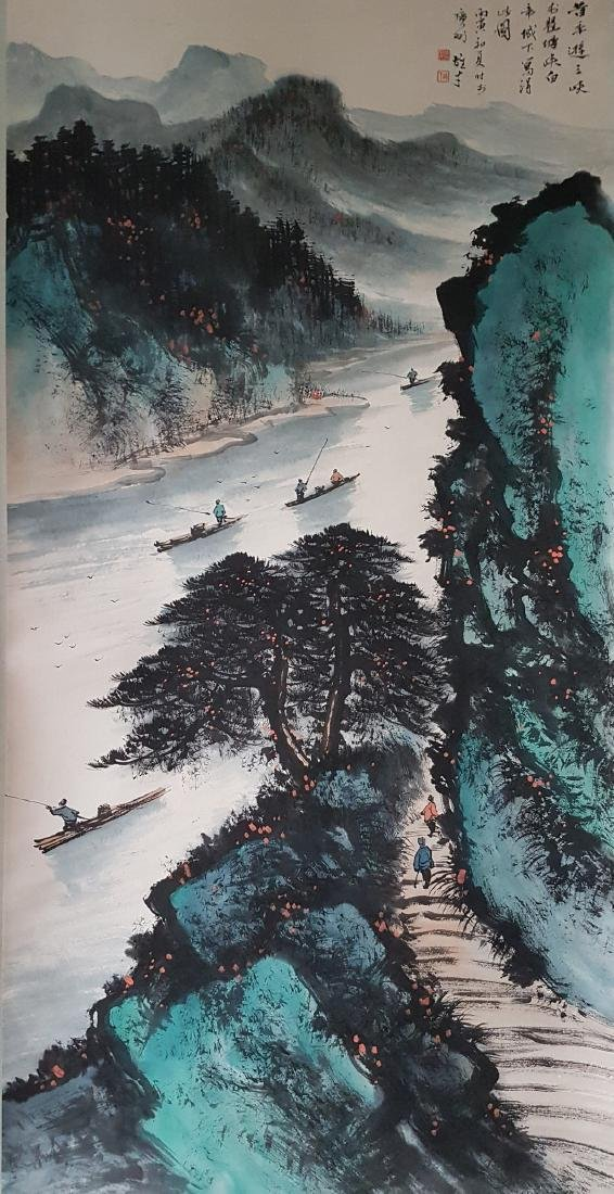 A Chinese Scroll Painting on paper LI Xiongcai