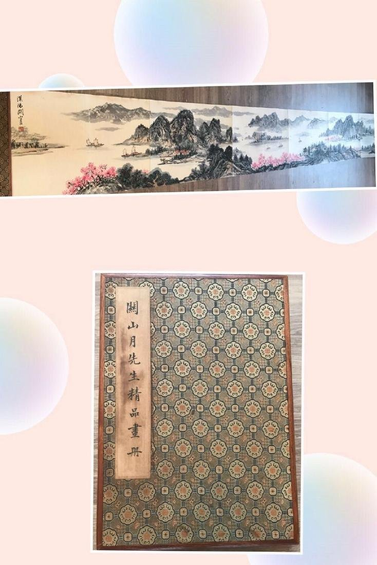 Chinese Album of Ink Paintings signed Guan Shanyue