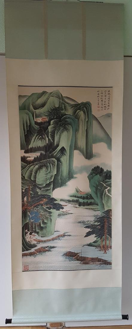 A Chinese scroll Painting on paper ZHANG DAQIAN