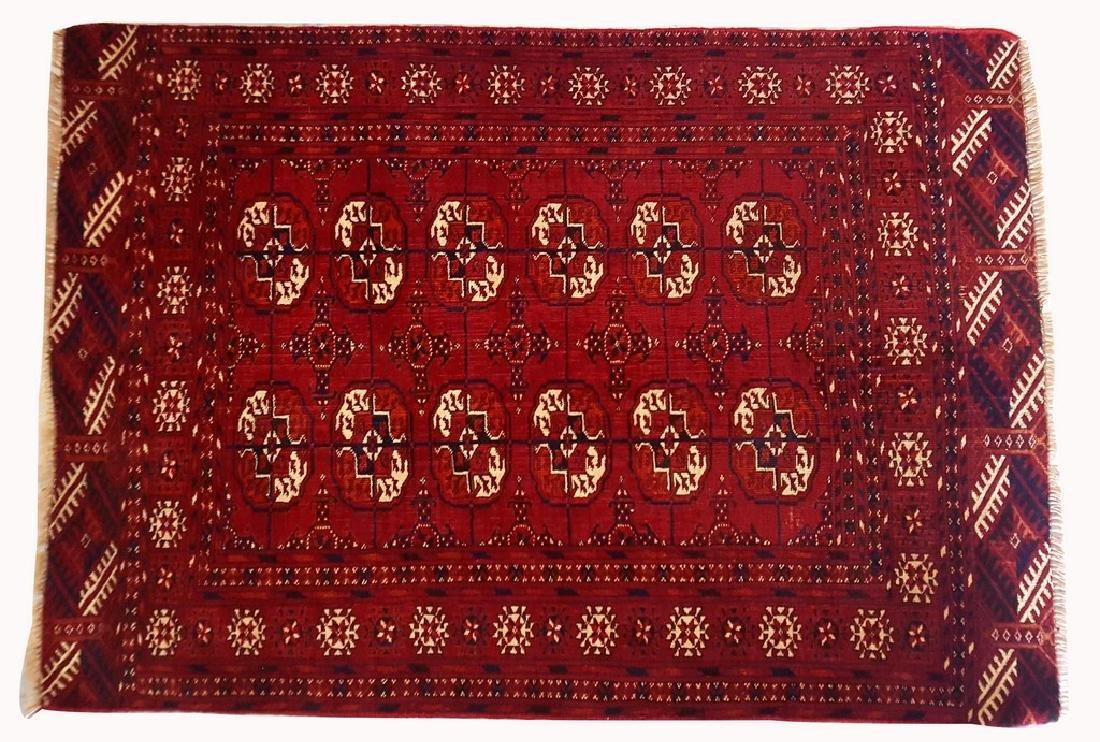 Semi Antique Tekke Bokhara Ensi Oriental Rug 2.11x4.1