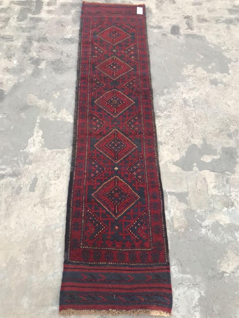 Tribal Hand Knotted Meshwani Kilim Runner Rug 7.7x1.10