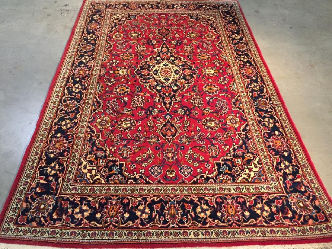 Fine Authentic Kork Persian Kashan Rug 4.1x6.6