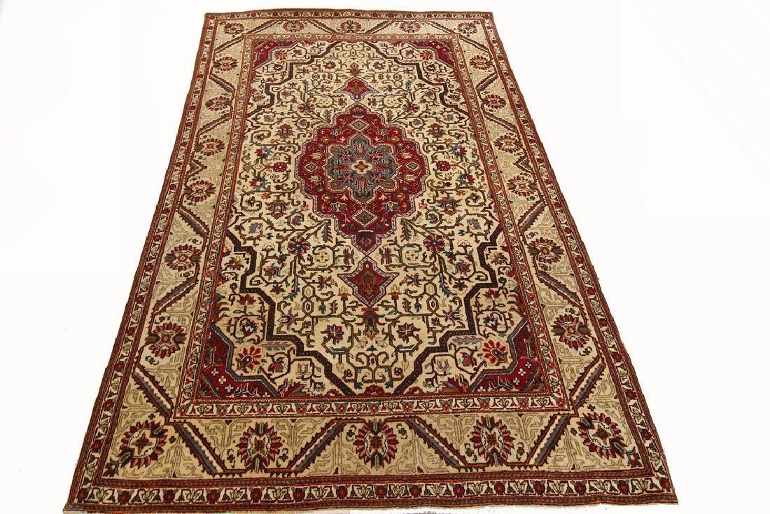 Antique Kashan Rug Persian Mohtasham Design 4.4x7.3