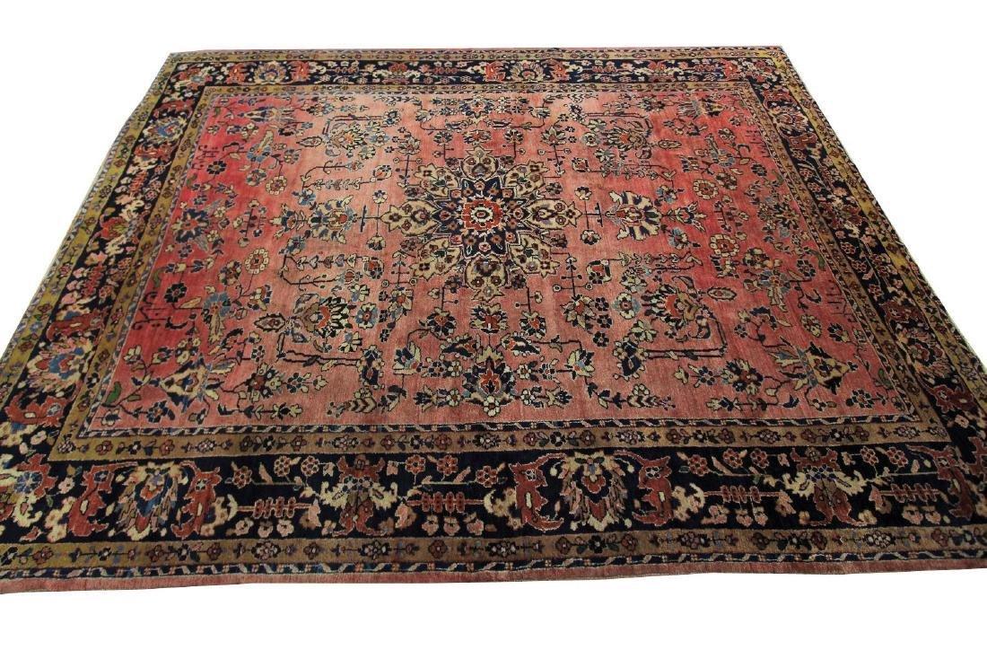 Antique Persian Sarouk Mohajeran Rug Signed Gazan 8x10