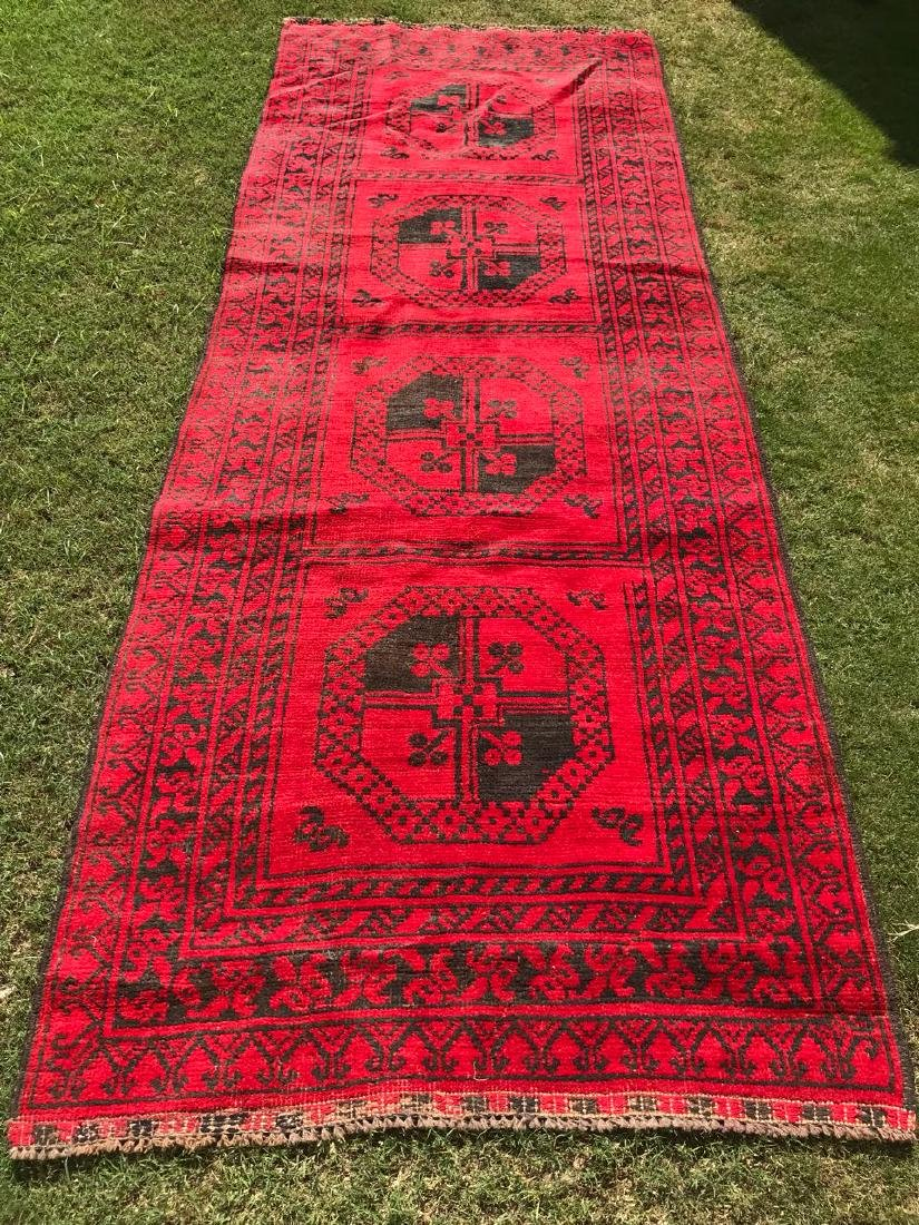 Pakistani Bokhara Hand Made Runner Rug 9.1x3.6