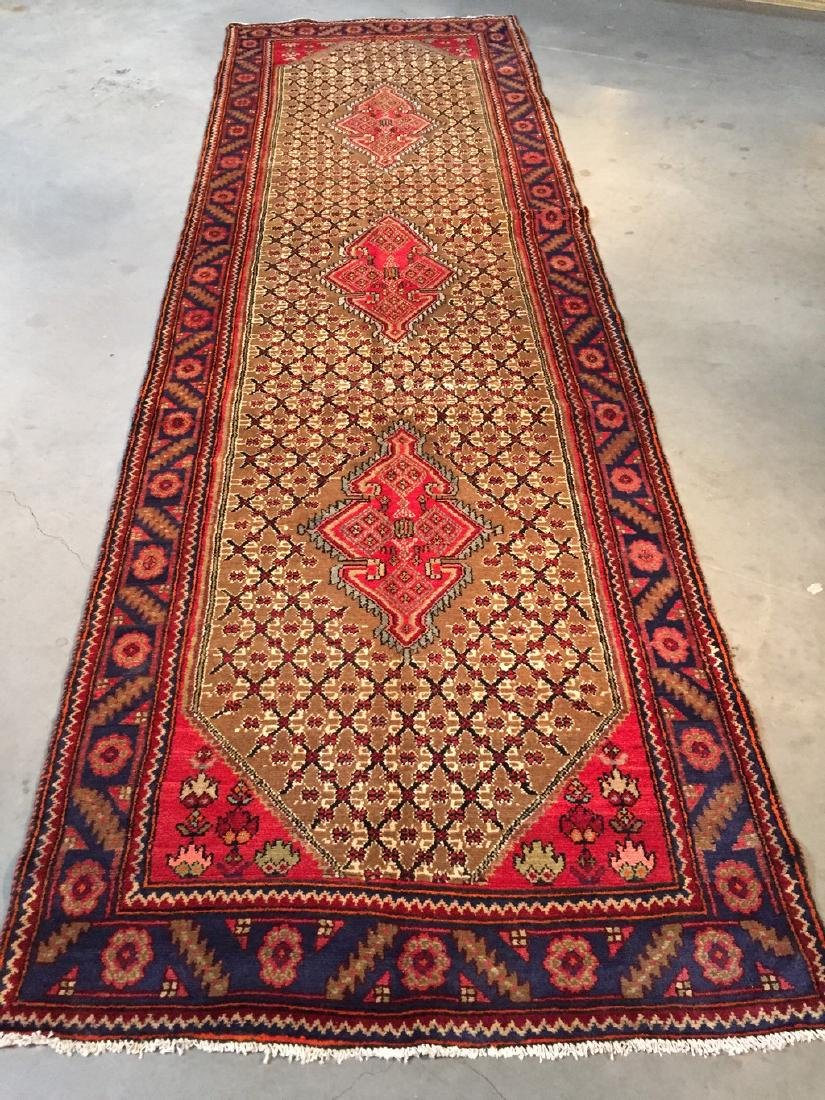 Fine Persian Hamedan Wide Runner Rug 3.3x11