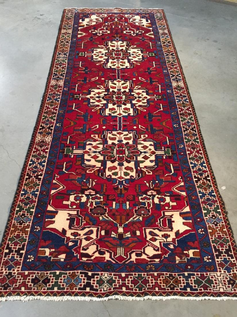 Authentic Persian Hamedan Wool Runner Rug 3.9x11