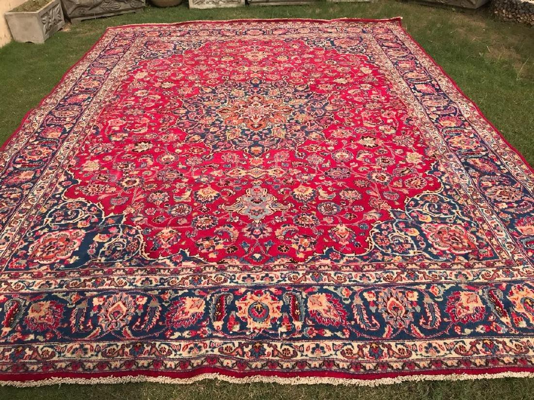 Persian Tabraiz Wool Hand Made Rug 12.9x9.5