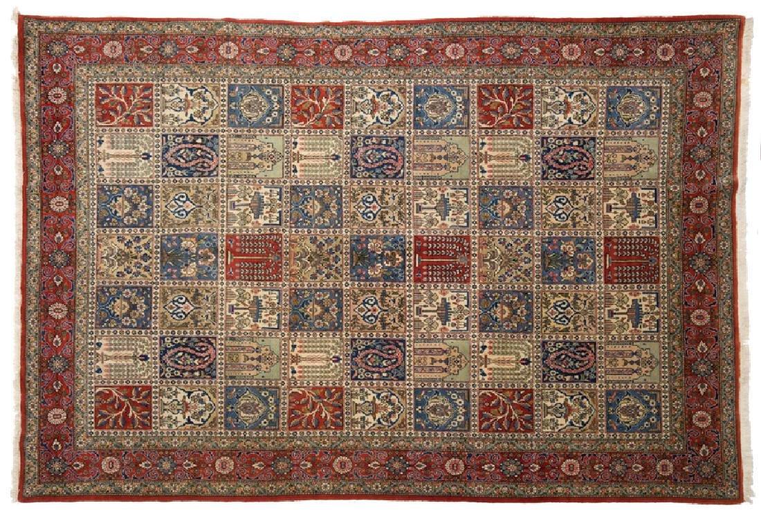 Qum Kork Wool Pictorial Rug 9.10x6.10