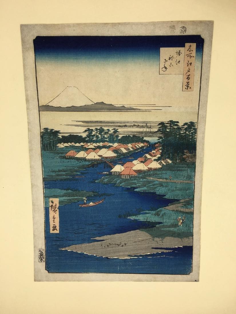 Ando Hiroshige Woodblock Hundred View of Edo