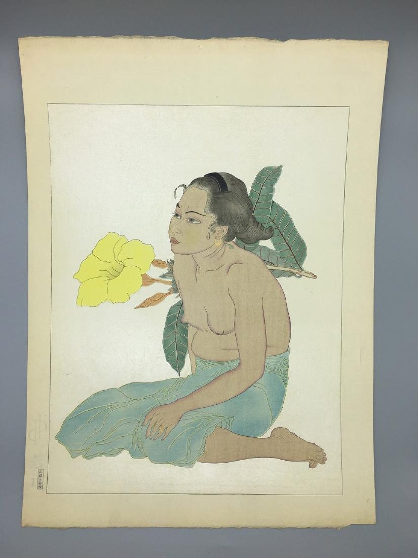 Paul Jacqoulet Woodblock Saipan