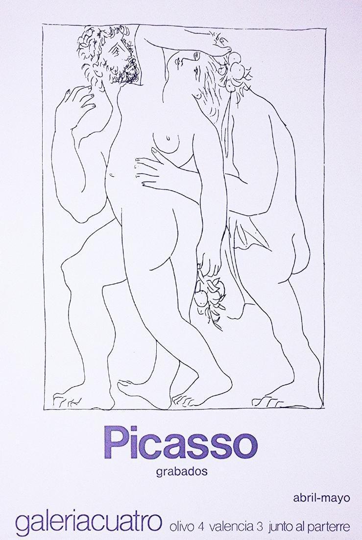 "Picasso Poster 1980 Exhibition ""Grabados"""