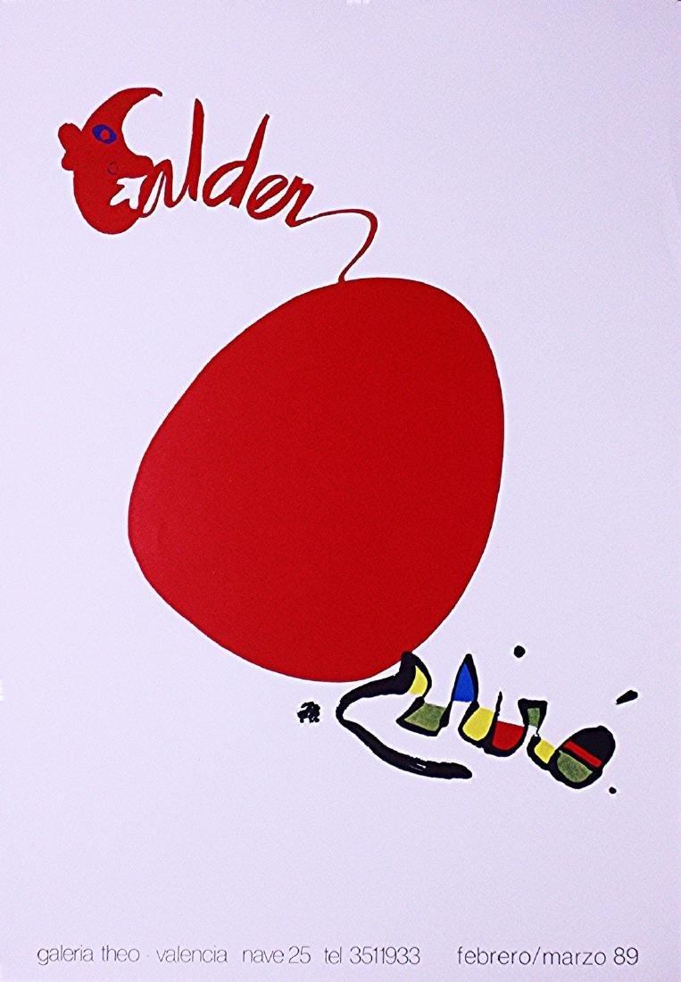 Lithograph Poster Calder & Miro 1989 Exhibition