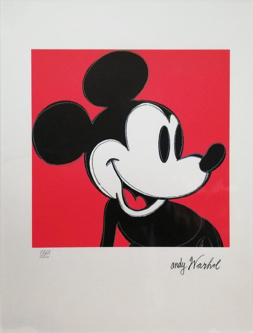 Andy Warhol Mickey Mouse Limited Edition Lithograph