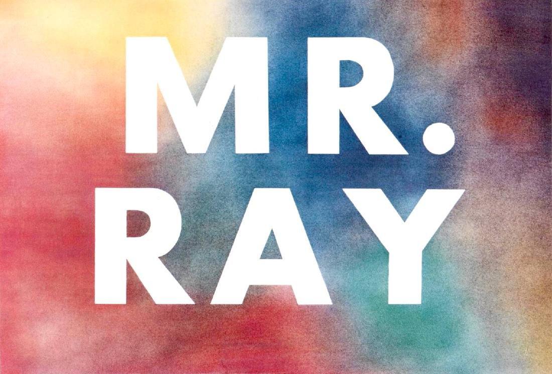 Ruscha Lithograph Mr. Ray