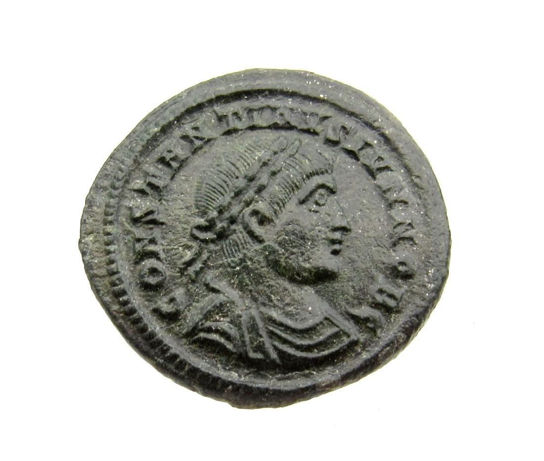 Superb Roman Ae Follis - House of Constantine