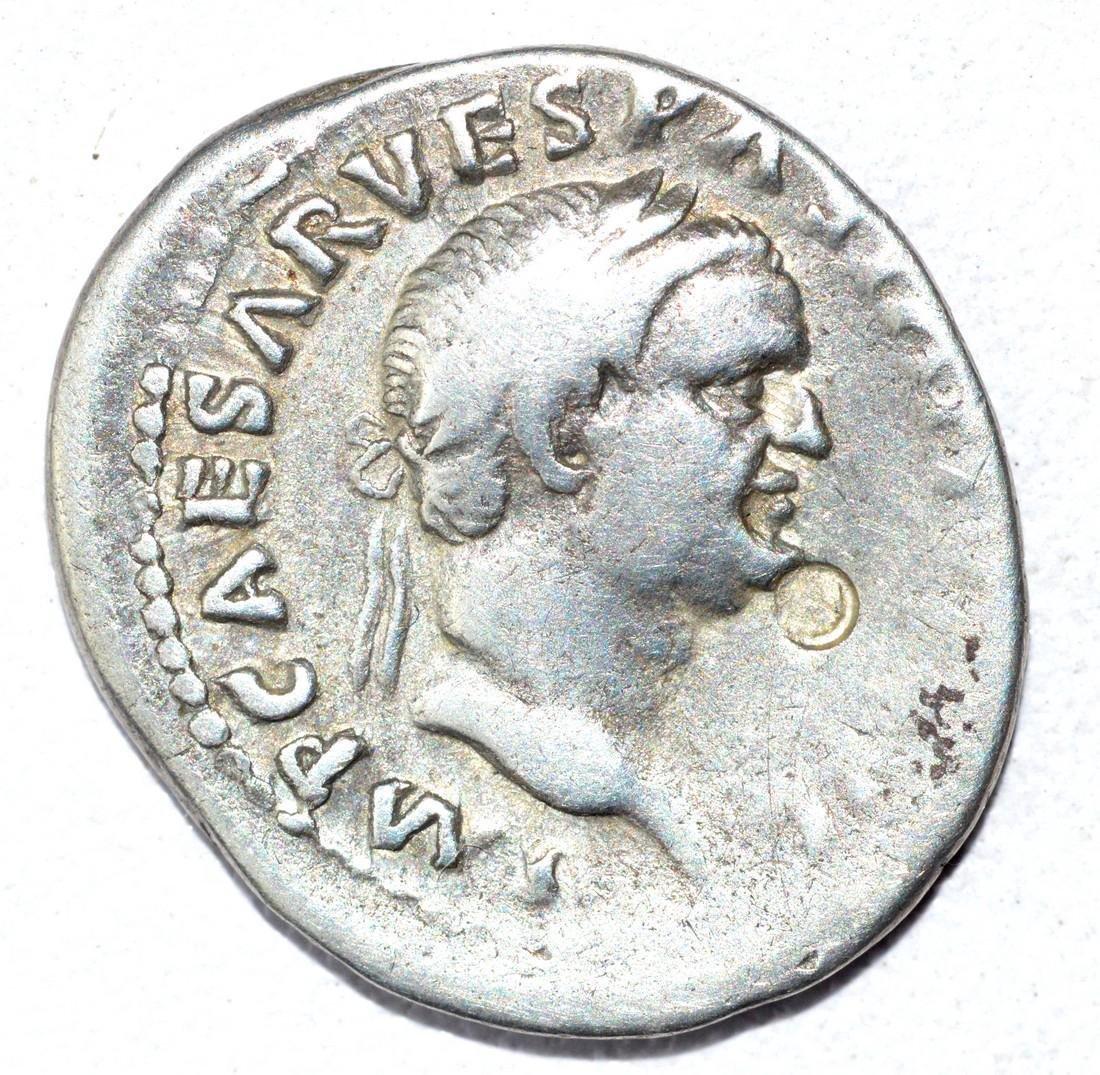 Vespasian AR Denarius - Judea Capta - Rare