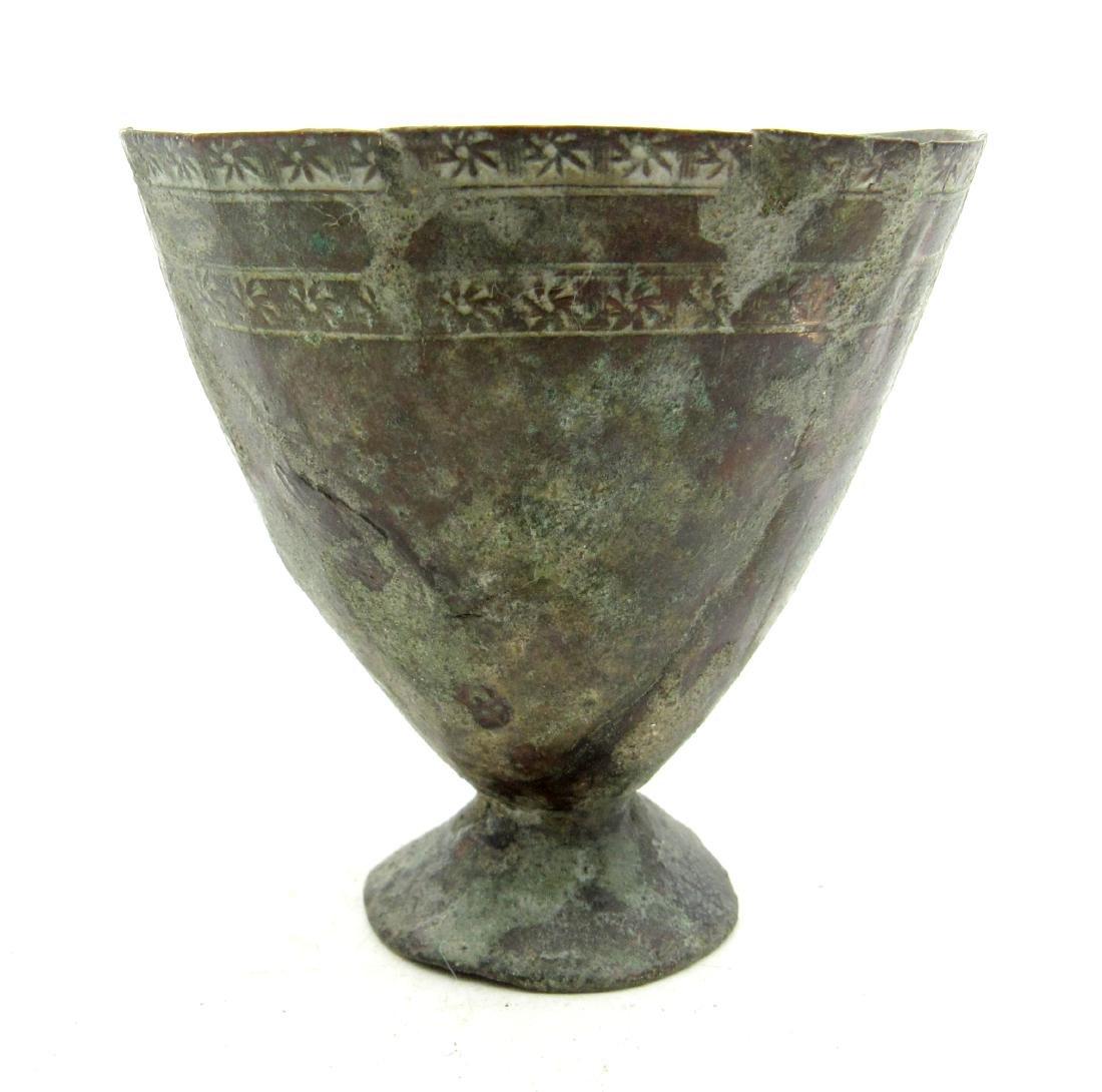 Ancient Roman Bronze Legionary Drinking Cup