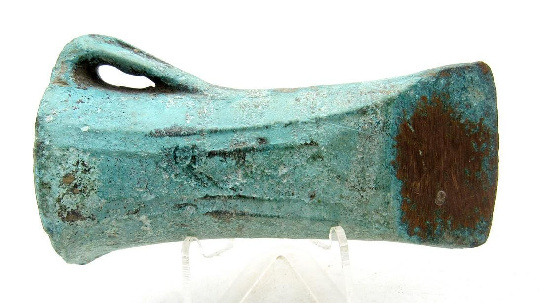 Ancient Bronze Age Axe with Loop