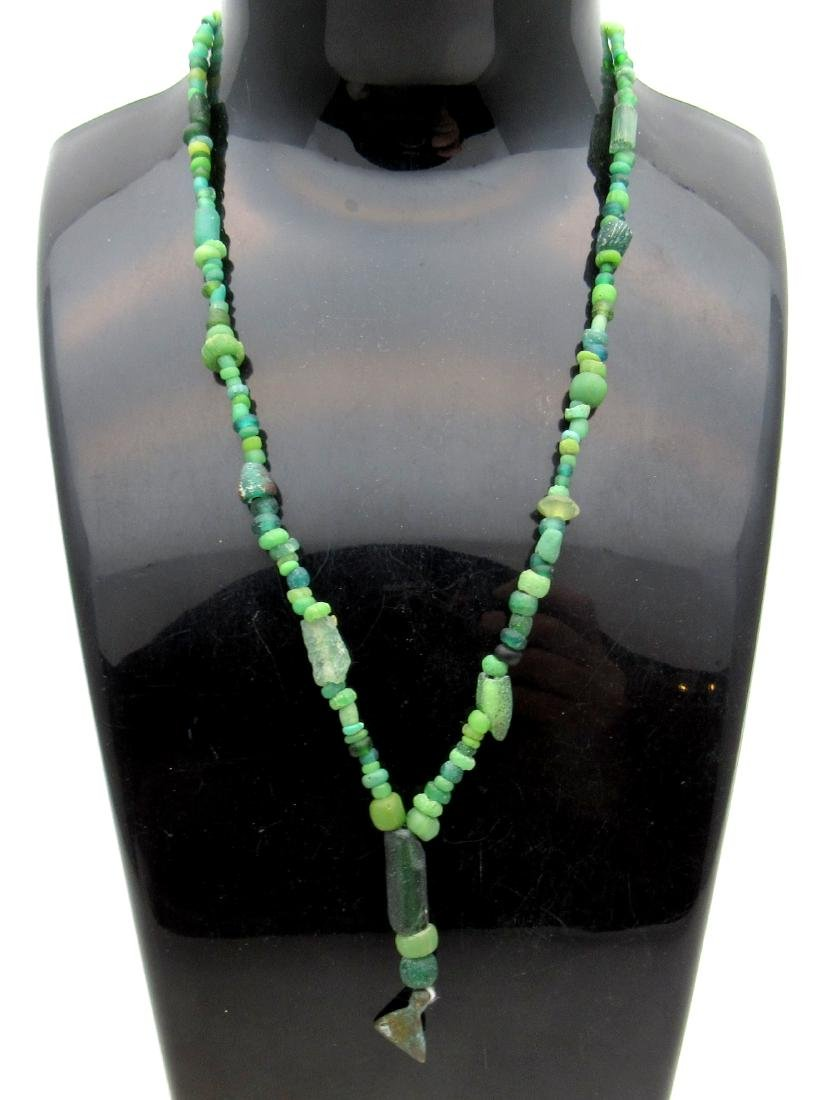 Ancient Roman Glass Beaded Necklace with 100+ Beads