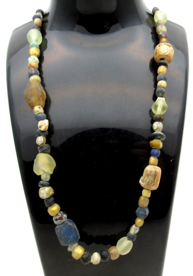 Medieval Viking Era Glass Beaded Necklace with 84 Beads