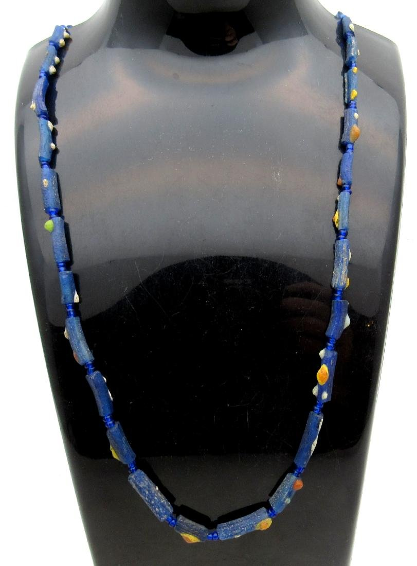 Medieval Viking Era Glass Beaded Necklace with 27 Beads