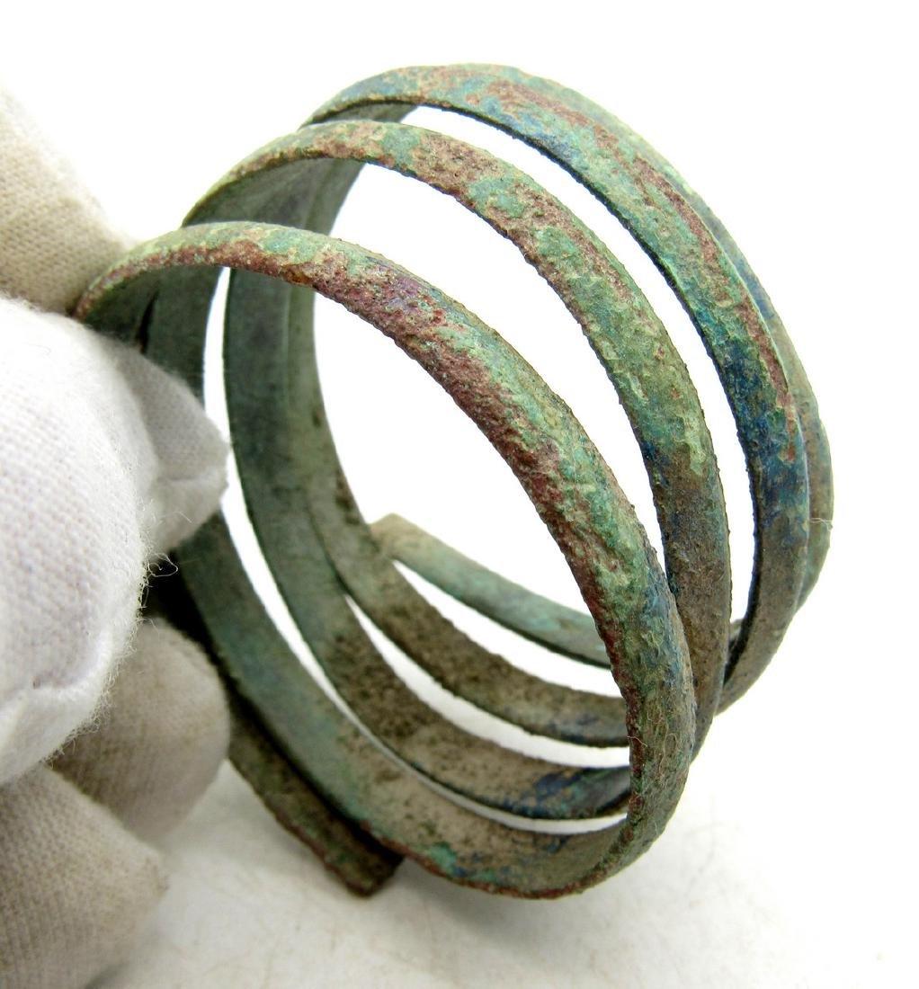 Medieval Viking Era Bronze Coiled Snake Bracelet