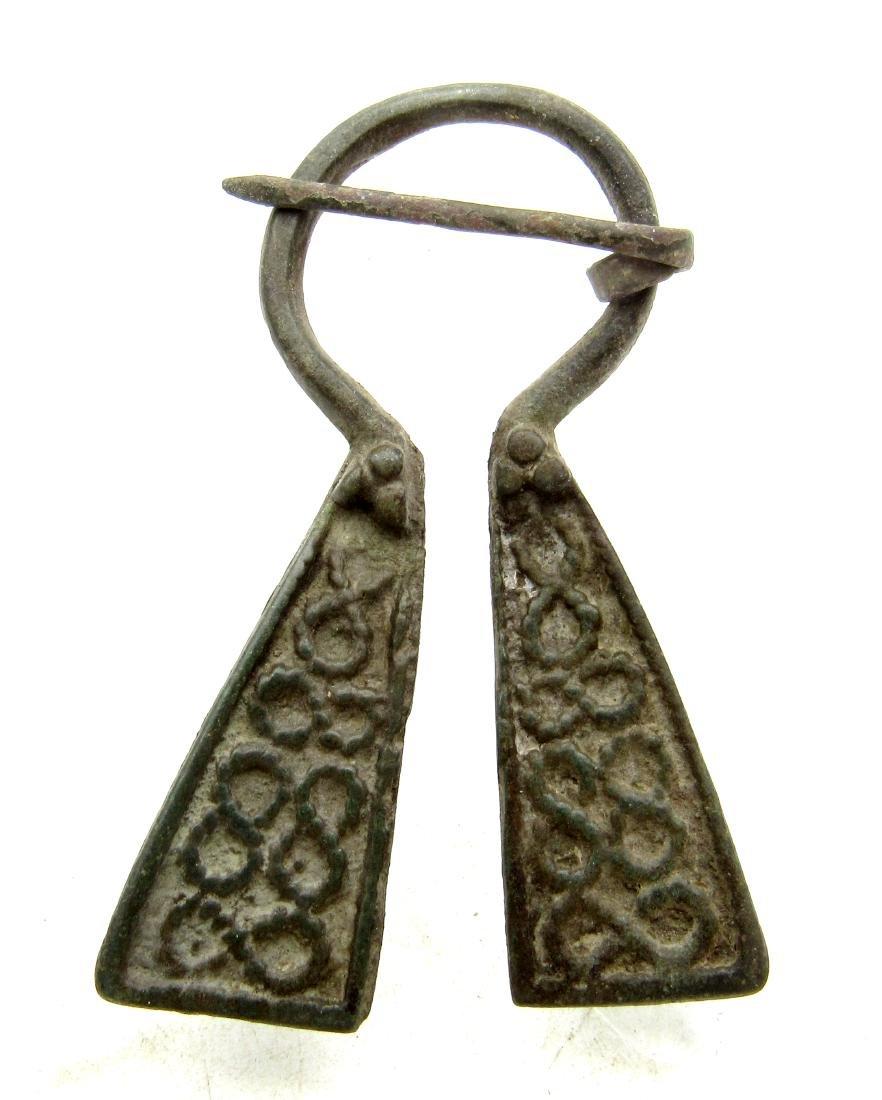 Medieval Viking Bronze Omega Penannular Brooch Snake
