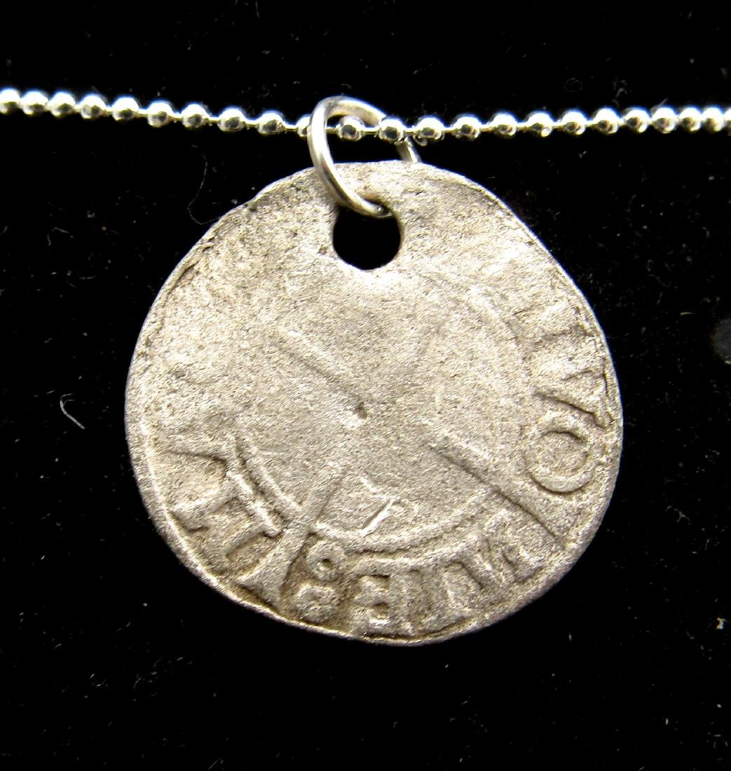 Medieval Viking Era Silver Coin Pendant by the Vikings