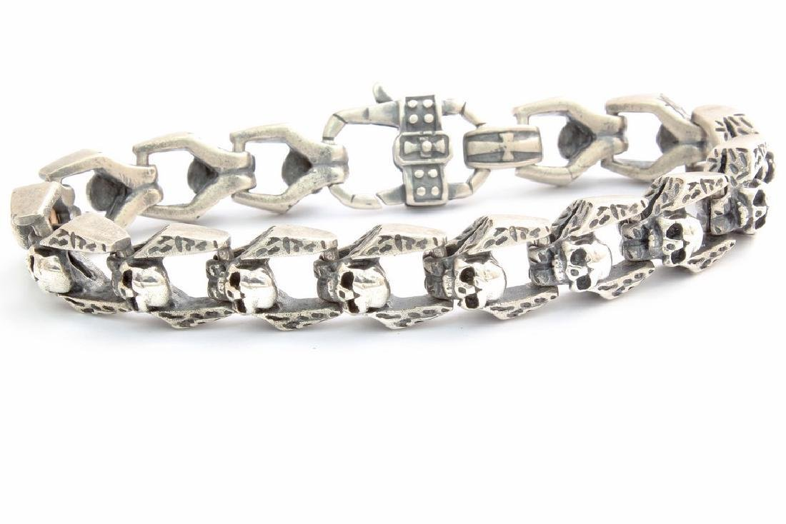 Made in Italy Nassau Collection Silver Skull Bracelet