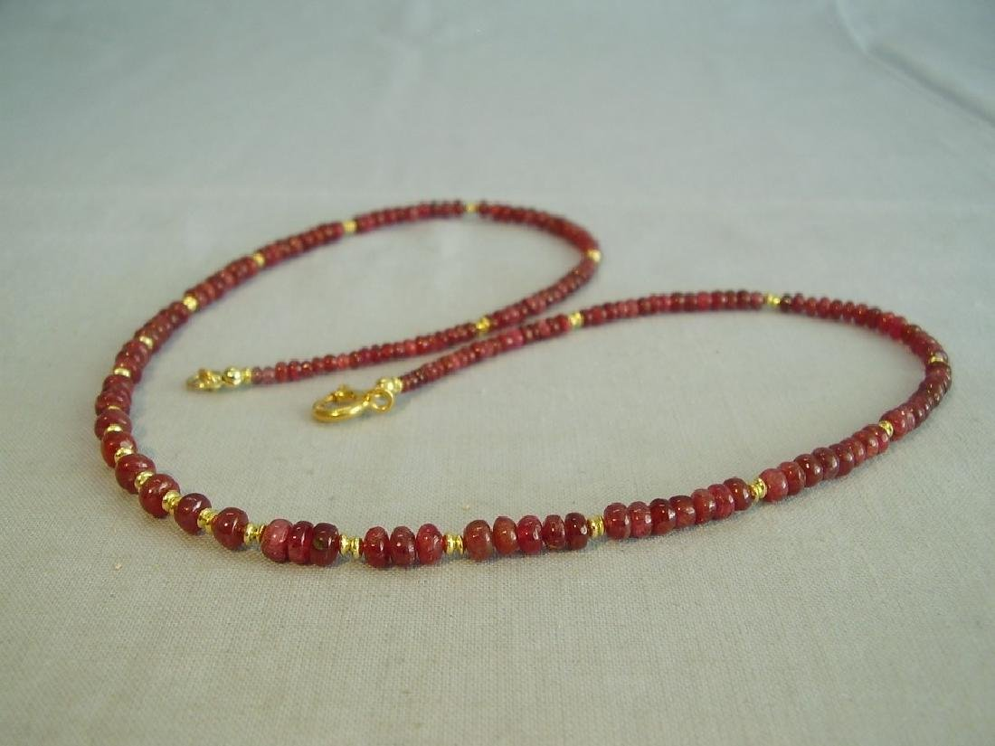 Gold Plated Sterling Silver Ruby Necklace