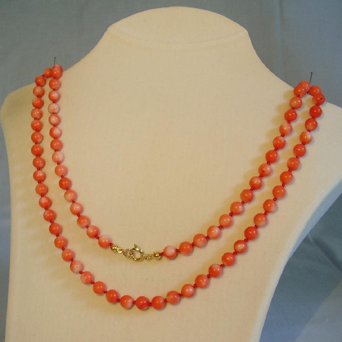 Long Necklace with angelskin coral