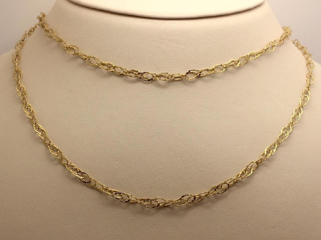 14K Gold Wrap Necklace Chain Link Wrap Around