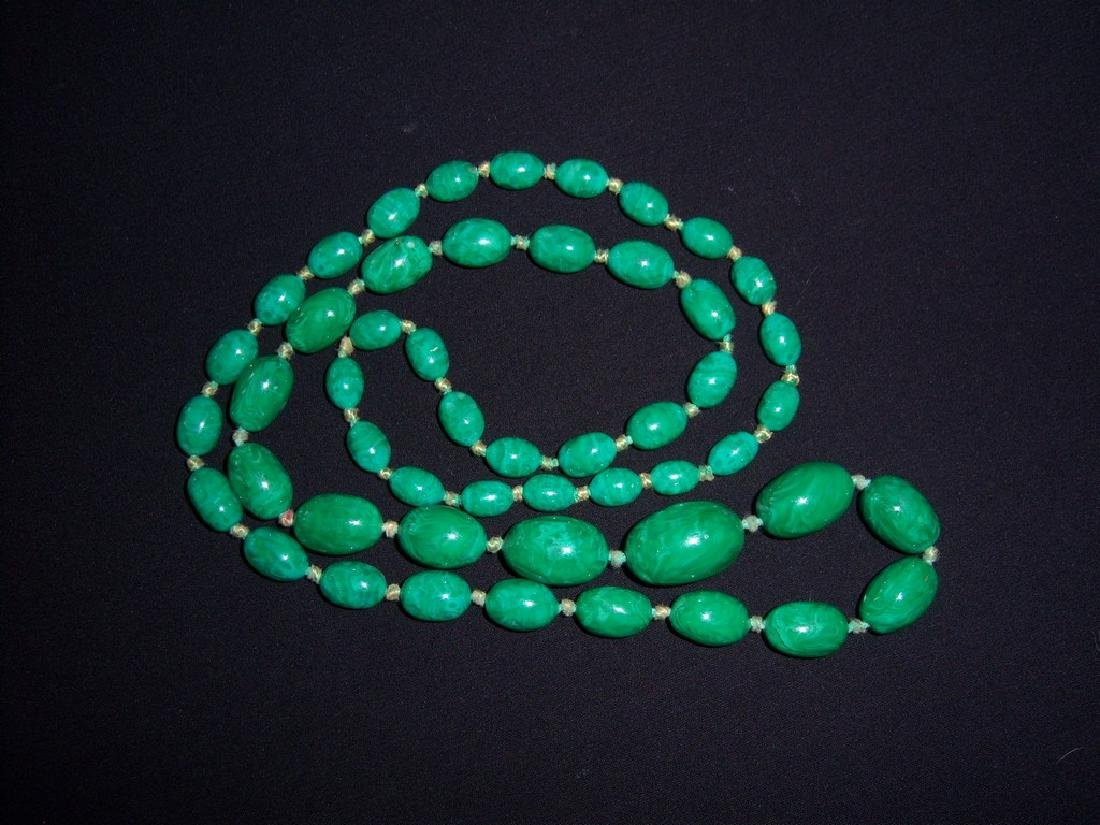 Very Old Vintage Amazonite Stone Beads Necklace