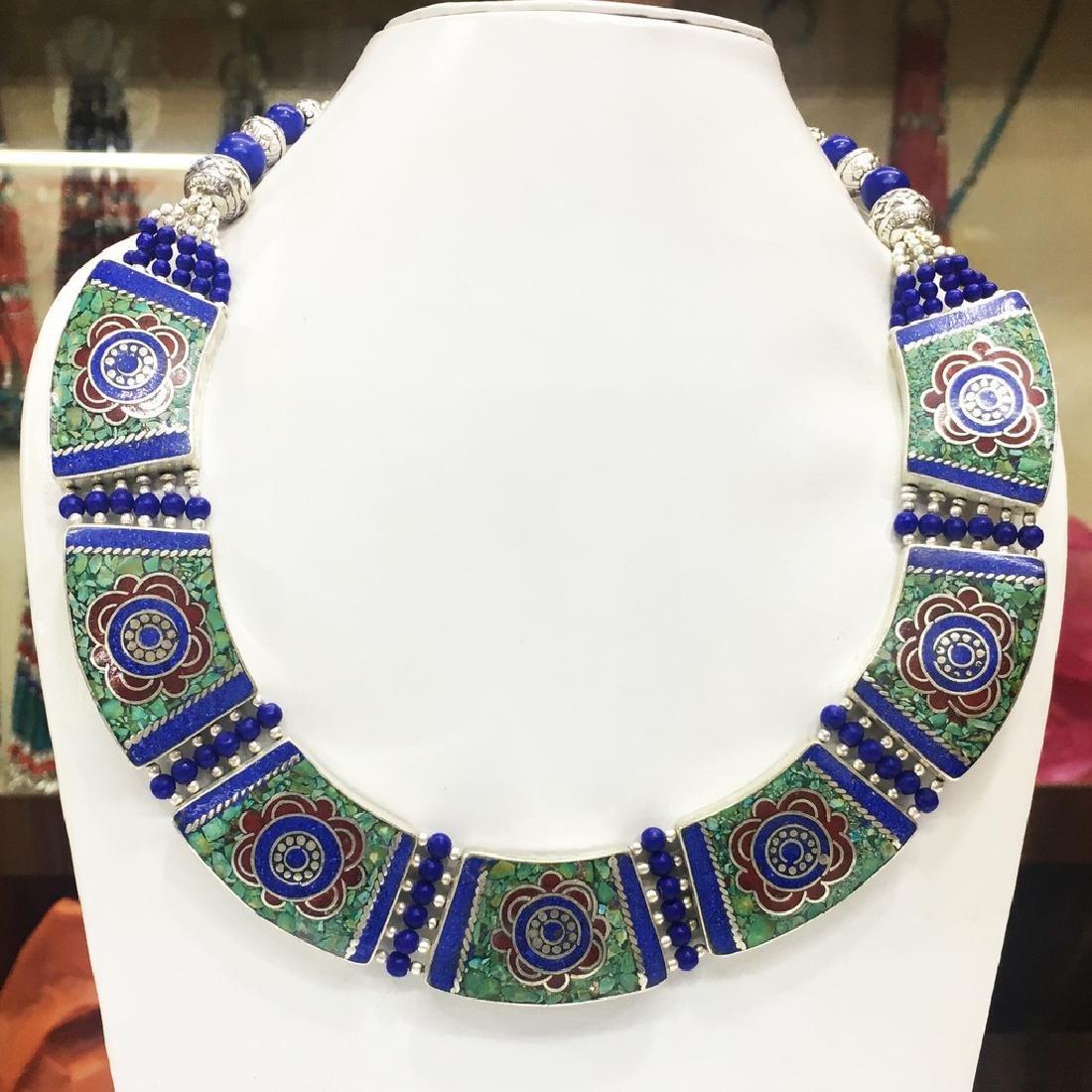 Artisan Tibetan Silver Handmade Turquoise Necklace