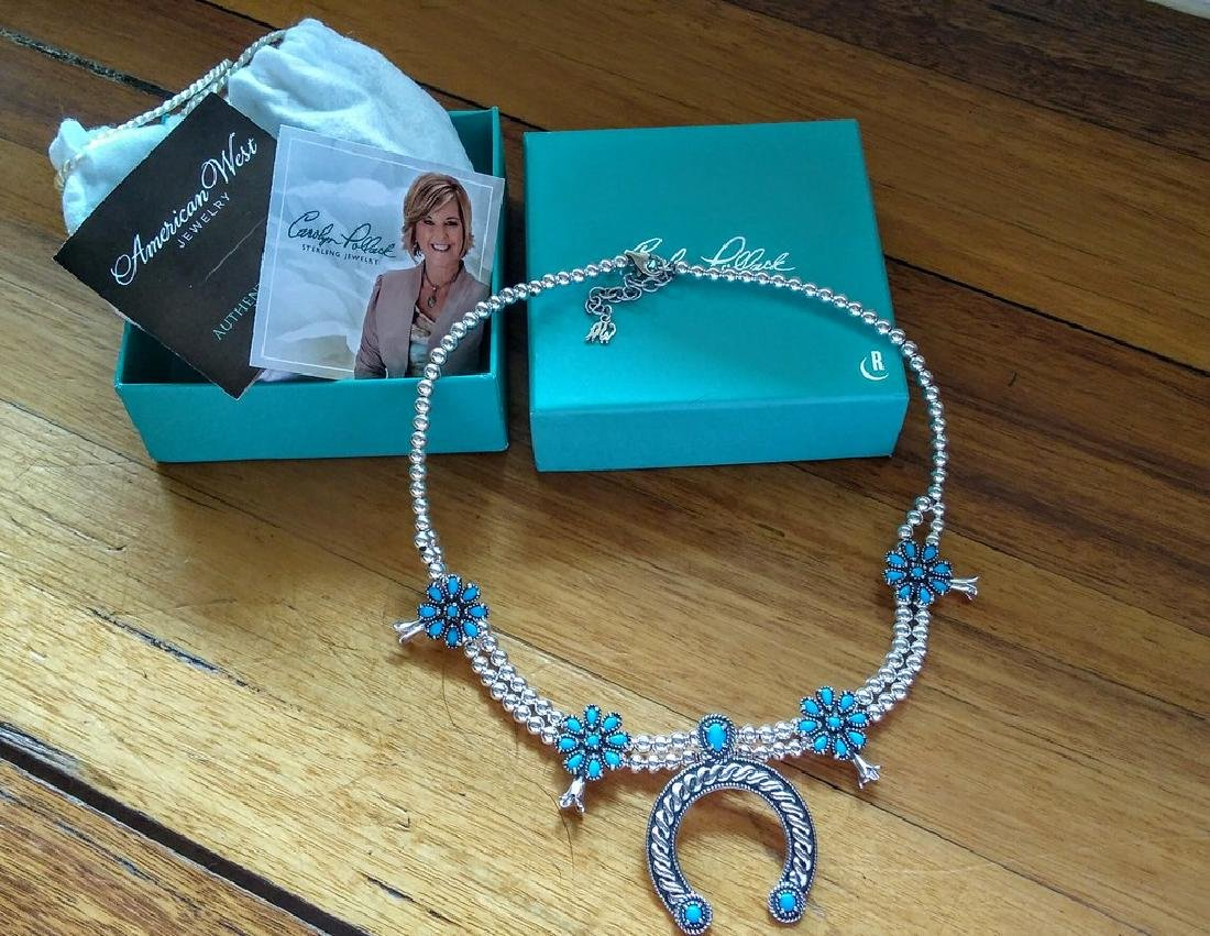 Sterling Silver 20 Cwt Blossom Bead Necklace