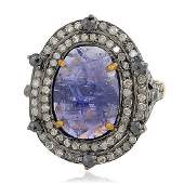 119 Cts Pave diamond 445 Cts Tanzanite Ring