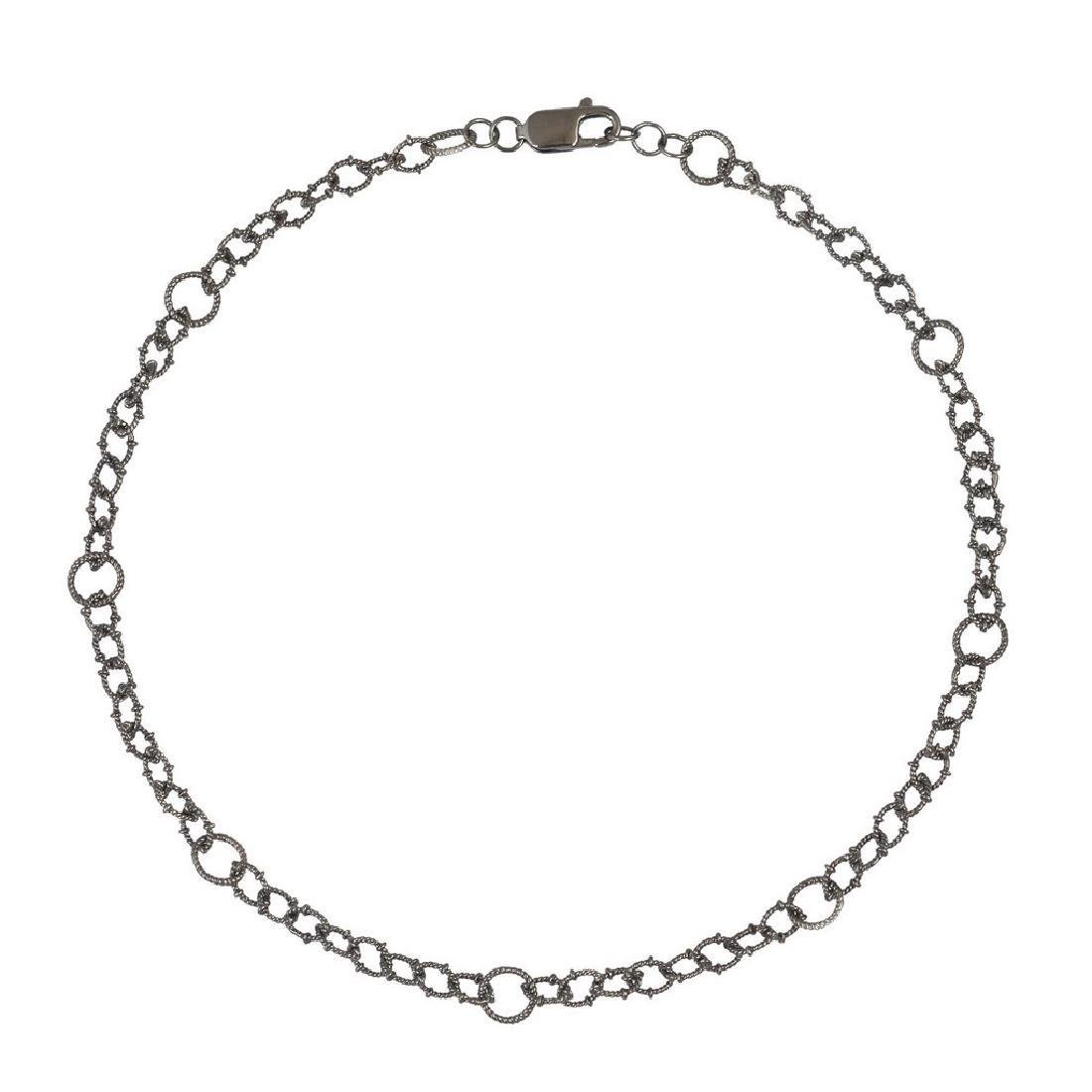 Sterling Silver twiated wire links chain