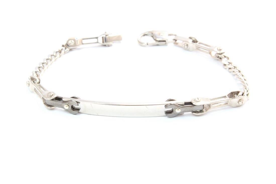 Made in Italy Gentleman Black key Silver Bracelet
