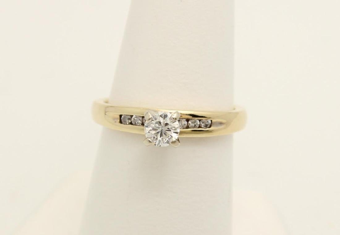 10K Gold and Diamond Engagement Ring, .45ctw