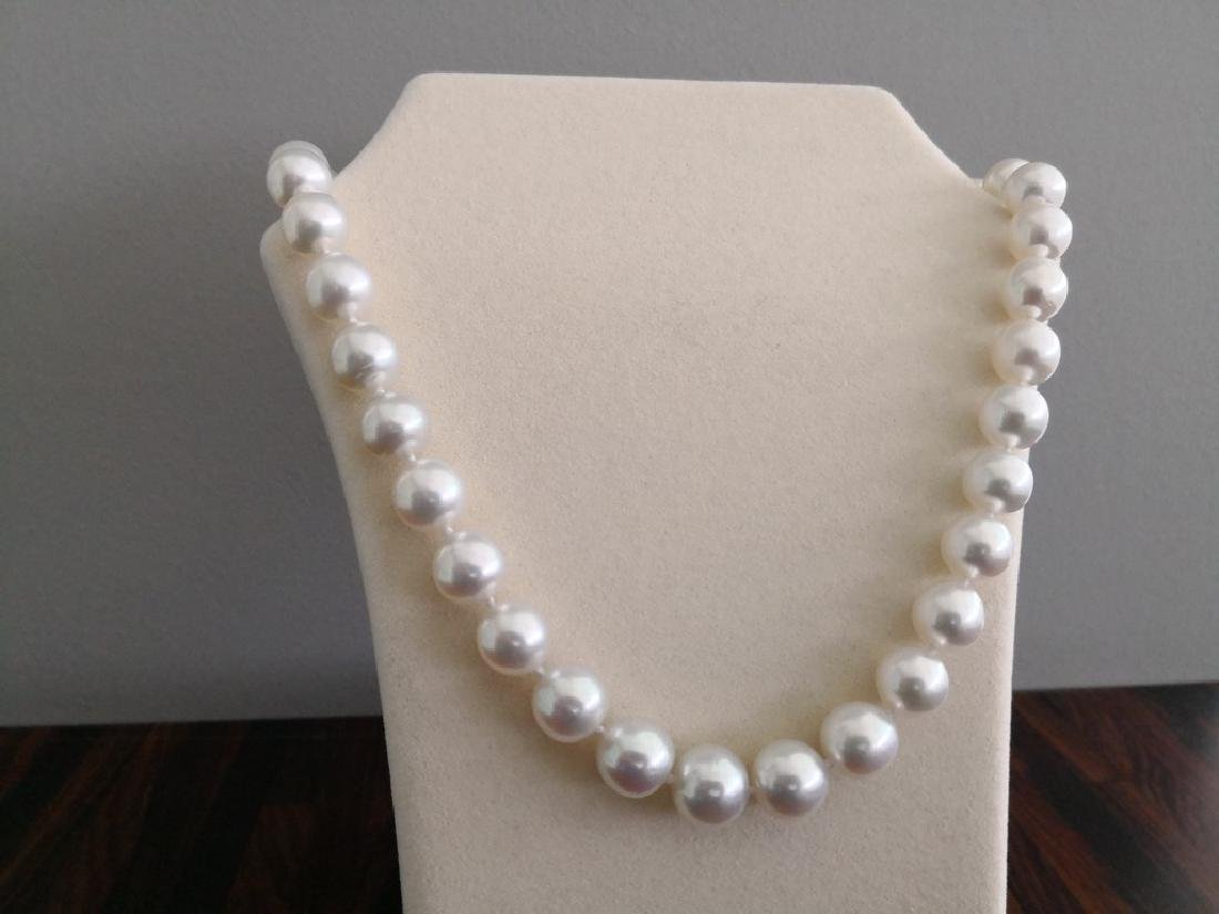 Natural pink color Australian South Sea Pearl necklace