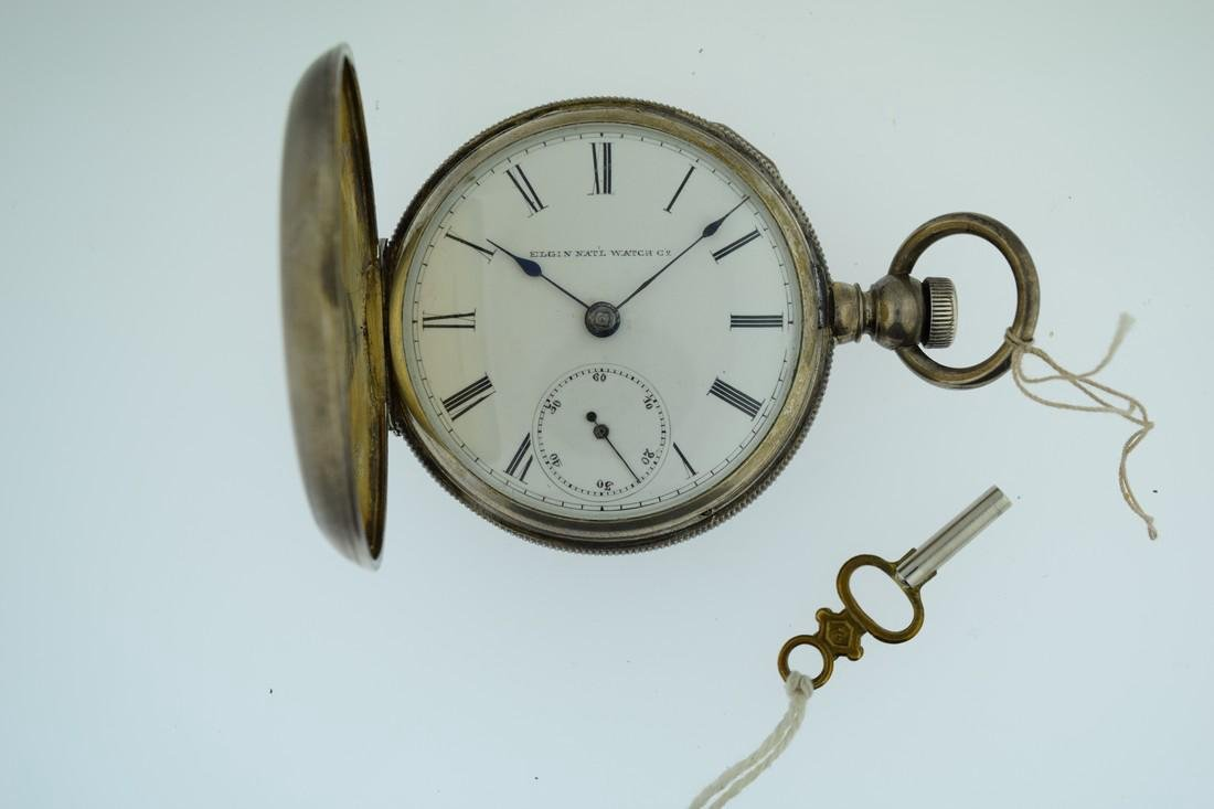 Antique Elgin Silver Key Wind Pocketwatch, 1800s