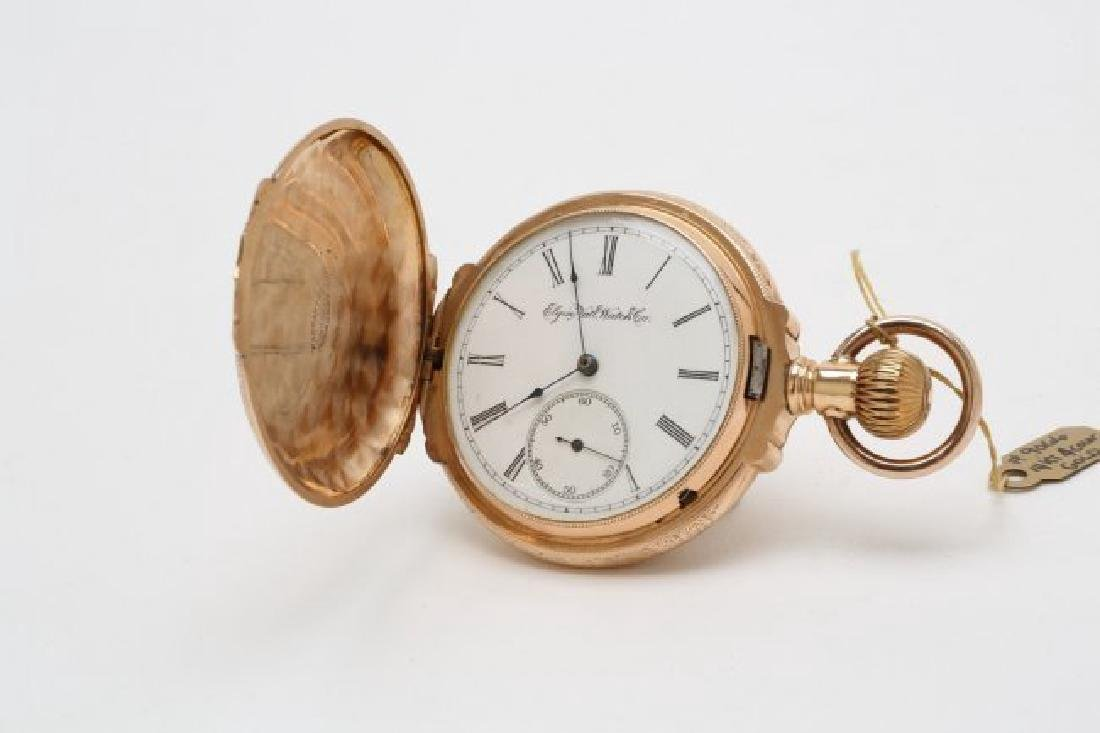 Elgin 3 Color Gold Box Heavy Pocketwatch