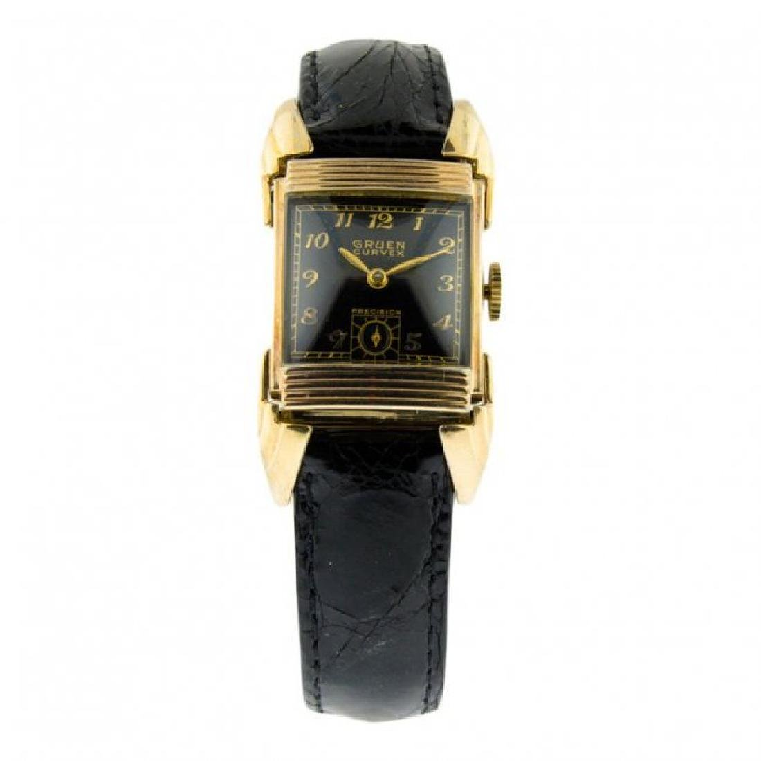 Gruen 14K Gold Drivers Watch, 1951
