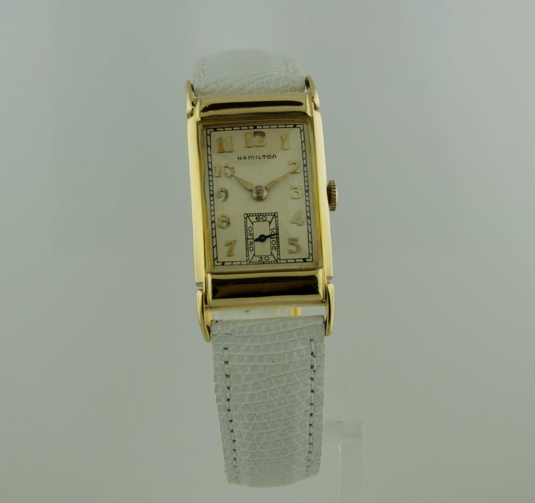 Hamilton Deco 14K Solid Gold Watch, 1960s